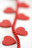 Heart On Rope Narrow Focus Stock Images