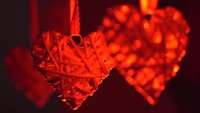 Heart on a rope stock footage