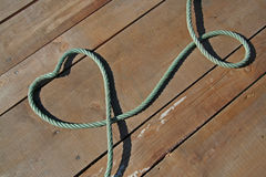 Heart with ropes Stock Image