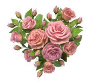 Heart from rose decoration Royalty Free Stock Photography