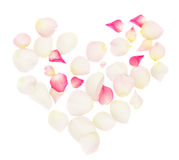 Heart of rose petals Stock Photography