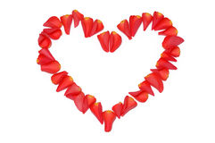 Heart from rose petals Royalty Free Stock Photography