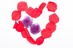 Heart with rose petals Royalty Free Stock Image