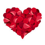 Heart of rose petals. Royalty Free Stock Photos