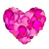 Heart from Rose Petals Vector Illustration Royalty Free Stock Photos