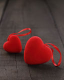 Heart and rose red in love. Royalty Free Stock Image