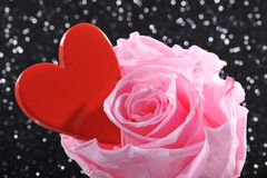 Heart with rose Stock Images