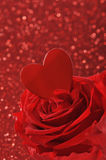 Heart with rose Stock Photo