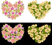 Heart Rose Set Stock Photos