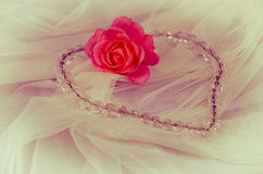 Heart and rose Royalty Free Stock Images