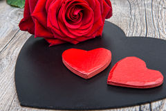 Heart and rose for Valentine's day Royalty Free Stock Images