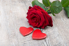 Heart and rose for Valentine's day Royalty Free Stock Photography