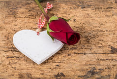 Heart and rose for valentine Stock Image