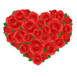 Heart From Roses Royalty Free Stock Images