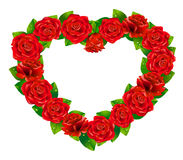 Heart of roses. Stock Image