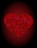 Heart From Roses Royalty Free Stock Photo