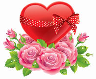 Heart in roses Royalty Free Stock Photo