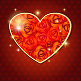 Heart of roses Stock Photography