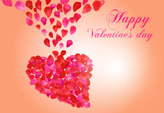 Heart with roses. Vector valentine Heart with roses Stock Images