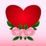 Heart with roses Royalty Free Stock Photography