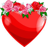 Heart_roses. Heart with roses – Vector illustration Royalty Free Stock Photo