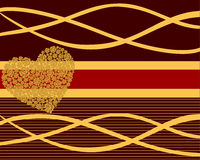 Heart of roses. Vector illustration of an abstract background with golden heart Stock Photography