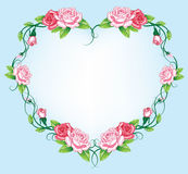 Heart roses border Royalty Free Stock Image