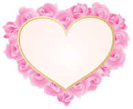 Heart with roses frame Royalty Free Stock Photo