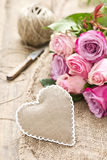 Heart with roses Stock Images