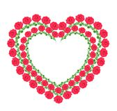 Heart from  roses , isolated Royalty Free Stock Image