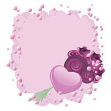 Heart and roses Royalty Free Stock Images