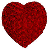 Heart of roses vector illustration