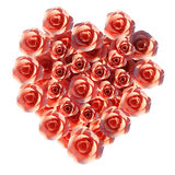 Heart Roses Means Valentine Day And Flora Stock Photography