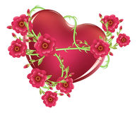 Heart with Roses Stock Photography