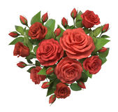 Heart from roses. Stock Photo