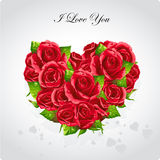Heart of roses Valentine's Day card.EPSi10. Valentine's Day greeting card heart of red roses Stock Photos
