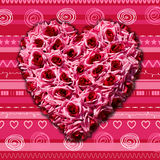 Heart of roses Valentine's day concept Royalty Free Stock Image