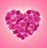 Heart of roses for Valentine's day Royalty Free Stock Photography