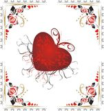 Heart and roses. Valentines day. Design Royalty Free Stock Images