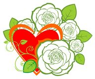 Heart and roses Stock Photo