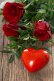 Heart with roses Royalty Free Stock Image