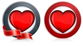 Heart in round Royalty Free Stock Photo