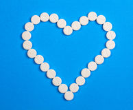 Heart of round pills Royalty Free Stock Image