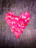 Heart of rouses petals Royalty Free Stock Photography