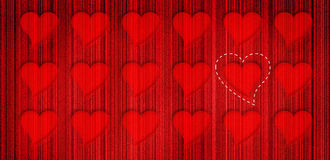 Heart rows background. Hearts background Royalty Free Illustration