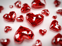 Heart rubies Royalty Free Stock Image