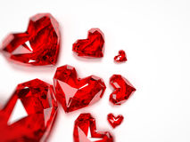 Heart rubies Royalty Free Stock Photo