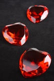 Heart Rubies, Valentine's day concept Royalty Free Stock Photography