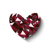 Heart ruby polygon. Heart Ruby Red Polygon Vector Illustration Royalty Free Stock Photography