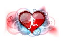 Heart runner Royalty Free Stock Photos